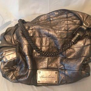 Kenneth Cole metallic leather shoulder bag